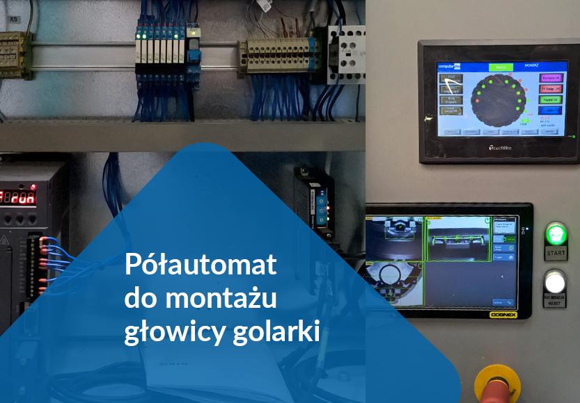 Półautomat do montażu głowicy golarki – panel HMI serii TG i serwo serii DS2