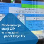 Modernizacja stacji CIP w mleczarni – panel Xinje TG